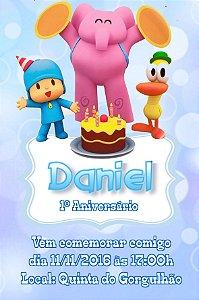 Convite digital personalizado Pocoyo 012