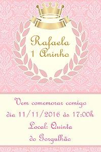 Convite digital personalizado Princesa 014