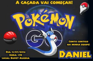 Convite digital personalizado Pokémon GO 021