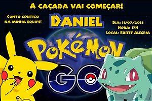 Convite digital personalizado Pokémon GO 027