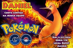 Convite digital personalizado Pokémon GO 034