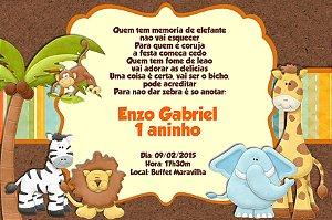 Convite digital personalizado Safari 010