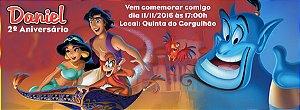 Convite personalizado para evento no facebook Aladdin