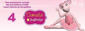 Convite personalizado para evento no facebook Angelina Bailarina