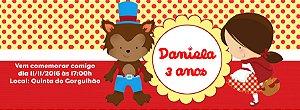 Convite personalizado para evento no facebook Chapeuzinho Vermelho