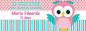 Convite personalizado para evento no facebook Coruja