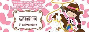 Convite personalizado para evento no facebook Cowgirl