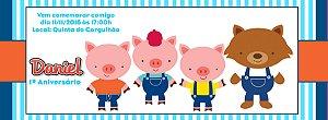 Convite personalizado para evento no facebook Os Três Porquinhos