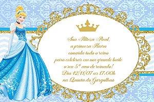 Convite digital personalizado Cinderela 015