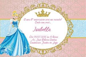 Convite digital personalizado Cinderela 001