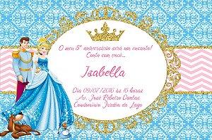 Convite digital personalizado Cinderela 002