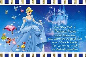 Convite digital personalizado Cinderela 004