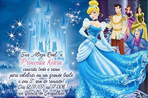 Convite digital personalizado Cinderela 007