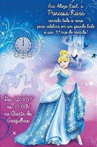 Convite digital personalizado Cinderela 008