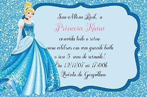 Convite digital personalizado Cinderela 009