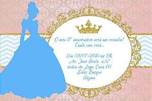 Convite digital personalizado Cinderela 010