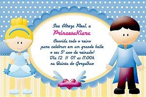 Convite digital personalizado Cinderela 019