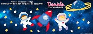 Convite personalizado para evento no facebook Astronauta