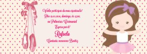 Convite personalizado para evento no facebook Bailarina