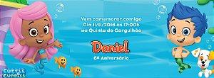 Convite personalizado para evento no facebook Bubble Guppies