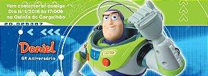 Convite personalizado para evento no facebook Buzz Lightyear