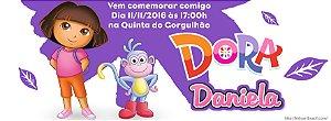Convite personalizado para evento no facebook Dora a Aventureira