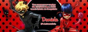 Convite personalizado para evento no facebook Miraculous: As Aventuras de Ladybug