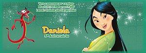 Convite personalizado para evento no facebook Mulan