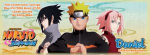 Convite personalizado para evento no facebook Naruto