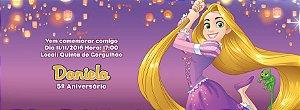 Convite personalizado para evento no facebook Rapunzel Enrolados