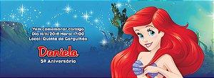 Convite personalizado para evento no facebook Pequena Sereia 002