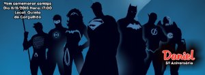 Convite personalizado para evento no facebook Super Herois 002