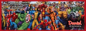 Convite personalizado para evento no facebook Super Herois 003