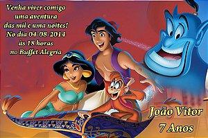 Convite digital personalizado Aladdin  012