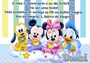 Convite digital personalizado Baby Disney  018