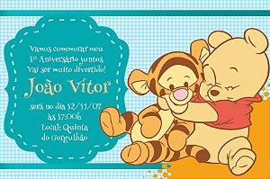 Convite digital personalizado Baby Pooh 011