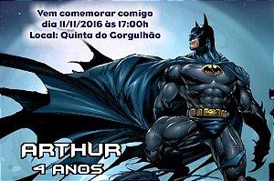 Convite digital personalizado Batman 010