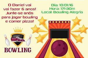 Convite digital personalizado Bowling 005