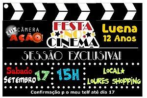 Convite digital personalizado Cinema 002