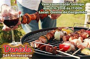 Convite digital personalizado Churrasco 003