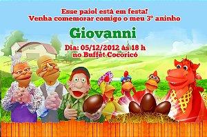 Convite digital personalizado Cocoricó 008