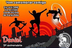 Convite digital personalizado Esportes Radicais 002