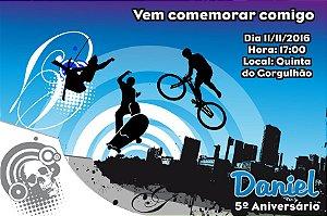 Convite digital personalizado Esportes Radicais 004