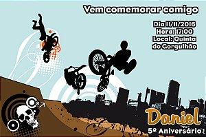 Convite digital personalizado Esportes Radicais 005