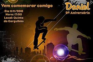 Convite digital personalizado Esportes Radicais 006
