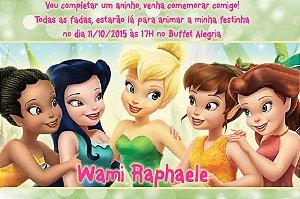 Convite digital personalizado Fadas Disney 013