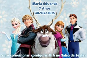 Convite digital personalizado Frozen - O Reino do Gelo 019
