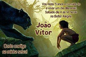 Convite digital personalizado Mogli, O Menino Lobo 010