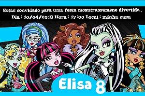 Convite digital personalizado Monster High 007