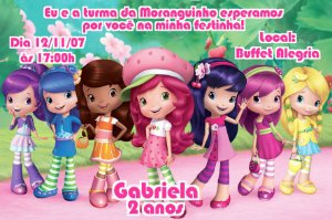 Convite digital personalizado Moranguinho 092